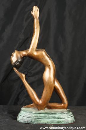 Français Bronze Art Déco Femme nue Statue Erotic Art