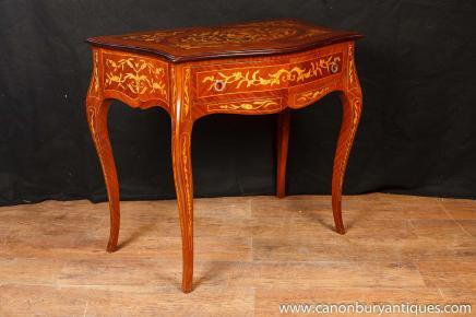 Français Empire Console Table Salle tableaux incrustation de marqueterie de meubles