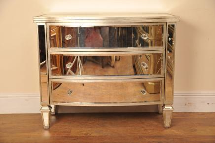 Miroir Bow poitrine tiroirs Art Déco Meubles