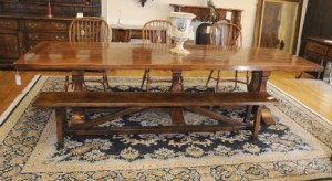 Norfolk Ferme Réfectoire table à tréteaux Banc Set