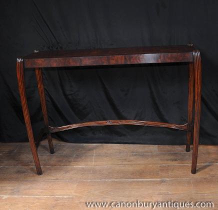 Noyer Anglais Art Nouveau Table console Tables salle 1930 Meubles