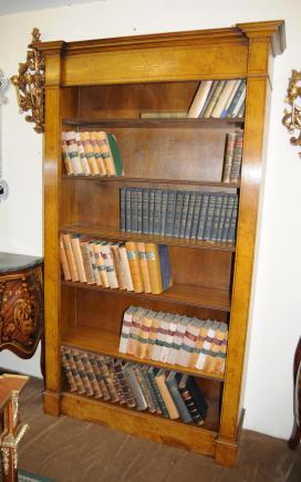 Noyer Regency Bibliothèque Ouverte livre affaire du Plateau