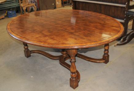 Oak Table de cuisine en chêne ovale Top Réfectoire Salle