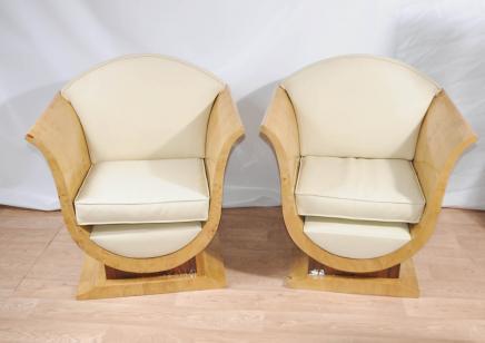 Paire Art Déco Canapé fauteuils Club Chair Meubles vintage
