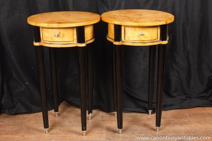 Paire Art Déco Side Tables salle occasionnelle guéridon