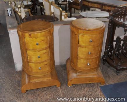 Paire Art déco chevet Commodes Tables de chevet Meubles de chambre