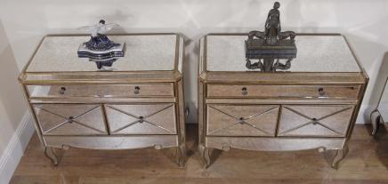 Miroir Tiroirs Poitrine Funky Paire Chevet Déco De Art Tableaux 3RjA54L