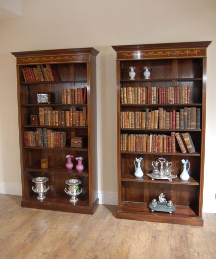 biblioth ques en acajou archives antiquites canonbury. Black Bedroom Furniture Sets. Home Design Ideas