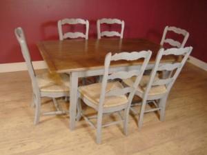 Président Ladderback Anglais Ferme peint et Réfectoire Cuisine Set de table