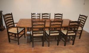 Président Ladderback Réfectoire Table cuisine Set Ferme