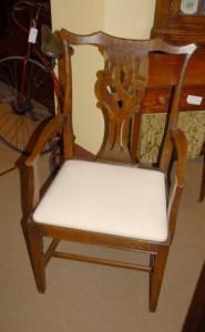Réglez 8 Anglais rustique Chippendale Chaise