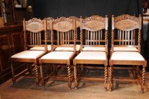 Réglez 8 orge Twist Chaise chaise de cuisine Ferme