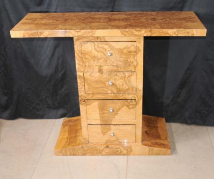 Rétro Déco de table poitrine tiroirs Noyer