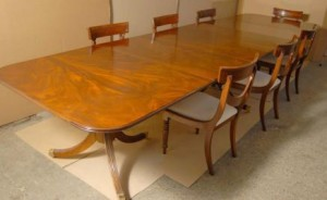 Regency Dining Set de table & Swag Chaises Suite