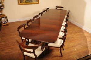 Regency Pedestal Dining Table et chaises Set Suite Diner