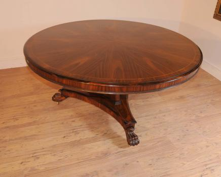 Regency Rosewood ronde Centre de table de salle à manger Tables Meubles