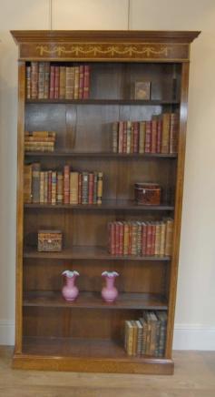 Regency Sheraton Bibliothèque ouverte Noyer Bibliothèques Open Front