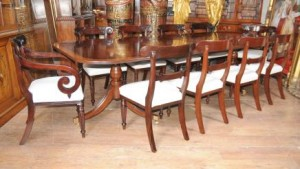 Regency en acajou Dining Set William IV Chaises Table Suite
