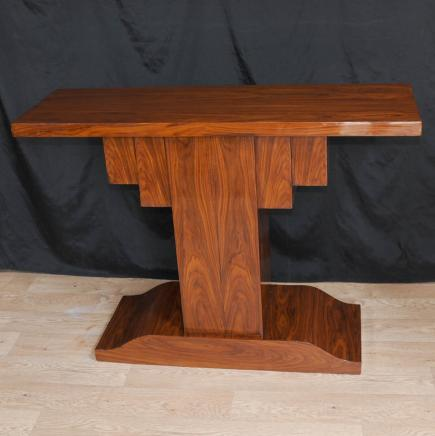 Rosewood Art déco moderniste Table console 1920 Meubles