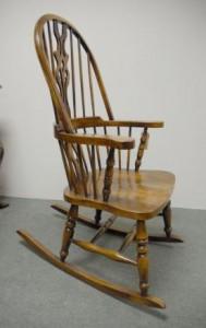 Sculpté à la main présidents Anglais Windsor Rocking Chair Ferme