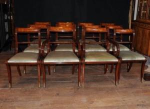 Situé 12 Anglais Regency corde Retour Chaise