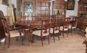 table de salle manger victorienne set chippendale chaises ensemble suite acajou