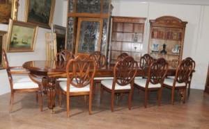 Table de salle à manger victorienne Set-du-Prince-Galles Chaises Acajou Suite Diner