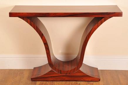Tableaux Art Déco en palissandre Table console Ogee