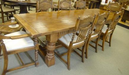 Tables Chunky abbaye Ferme Réfectoire Table Chêne Rustique