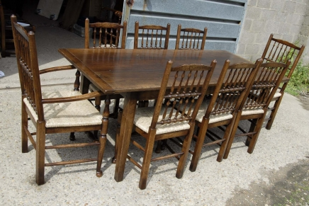 Tables anglais chêne rustique Réfectoire table de cuisine Diner
