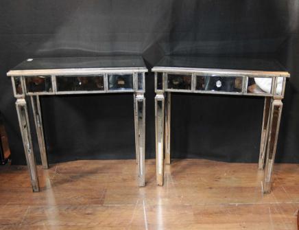 Tables paire Art Déco Miroir miroir secondaires Tableau meubles d'appoint