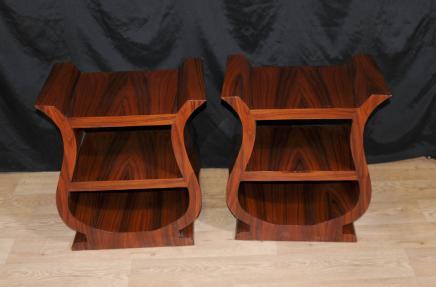 Tables paire Art Déco chevet chevet Bibliothèque Cabinet