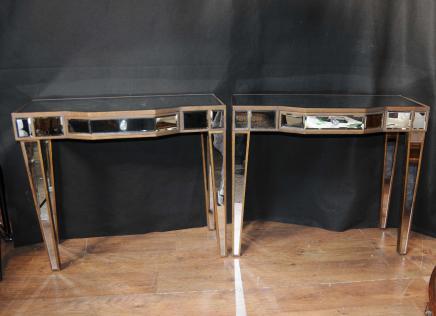 Tables paire miroir console Déco Salle tableaux Miroir Meubles Borghese