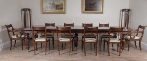 Victorian Dining Set Regency Rosette Chaises Suite