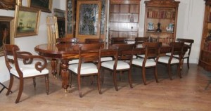 Victorienne Salle collé en acajou Table William IV Chairst