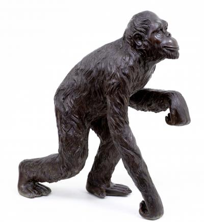 3ft Bronze singe Gorilla Ape Statue Lifesize