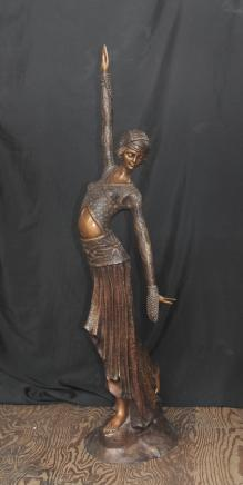 4 pi Art Nouveau français Dancer figurine en bronze