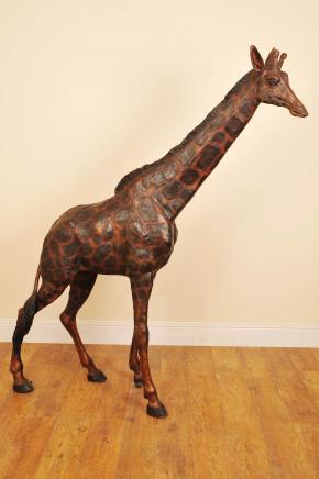7 pi Bronze africains Girafe Giraff Jardin Statue