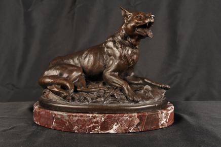 Anglais Bronze coulée Fox Animaux
