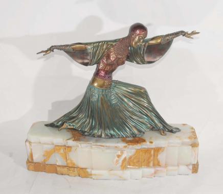 Art Déco Bronze Thaïlandais Dancer Chiparus