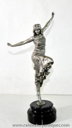 Art Déco russe Danseur Statue en bronze par Philippe