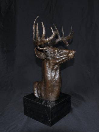 Bronze écossais Stag Buste Cerfs Moose Deer Elk