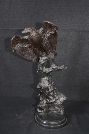 Bronze American Eagle Statue Oiseau Prey