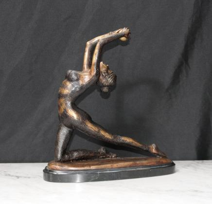 Bronze Art Déco danseuse bille Figurine Statue