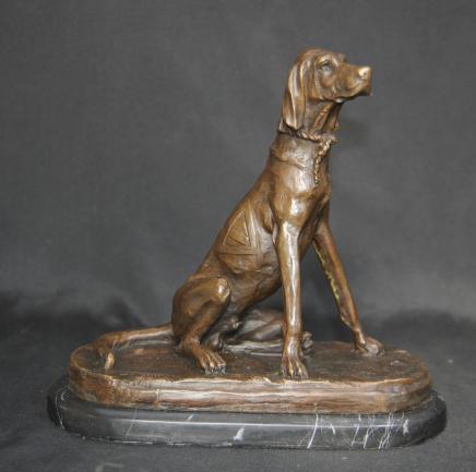 Bronze anglais Pointer Dog Statue Castings