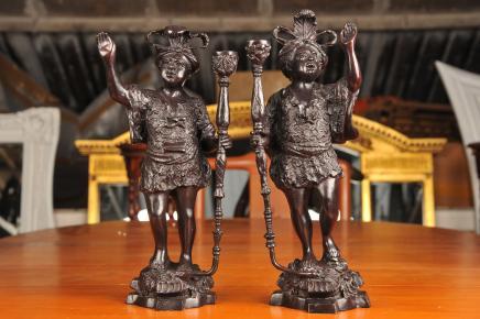 Bronze italien Nègre Figurines Statues nègres