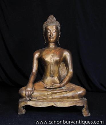 Bronze tibétain Statue de Bouddha bouddhiste bouddhisme incantation religieuse