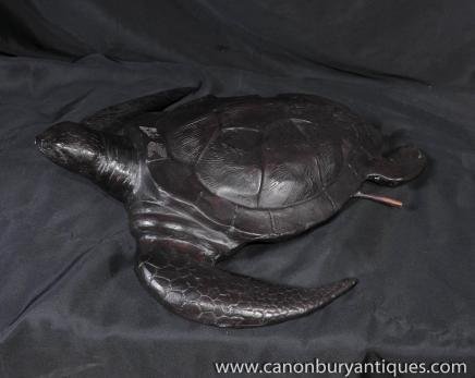 Caractéristique Bronze fontaine des tortues tortues de mer de bassin ...