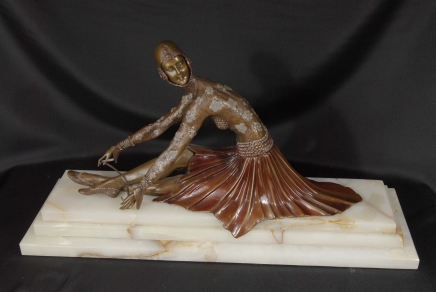 Chiparus Art Déco Bronze Figurine Jeune danseur