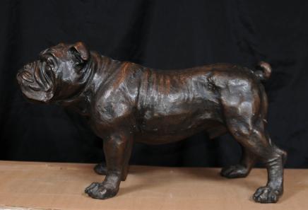 Coulée de bronze Bulldog Anglais Statue Bull Dog